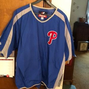 MAJESTIC Phillies batting cage jacket